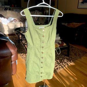 Denim camo green dress